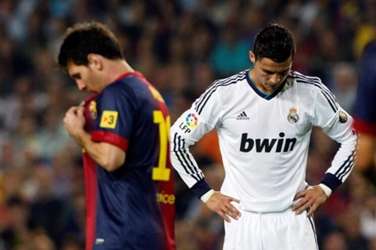 Messi e Ronaldo foram as estrelas da partida