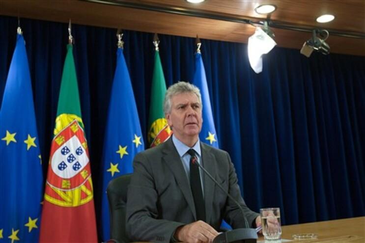 O secretário de Estado da Presidência do Conselho de Ministros, Luís Marques Guedes, durante a conferência