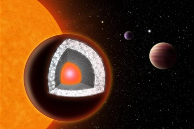 Descoberto planeta com o dobro do tamanho da Terra formado por diamante