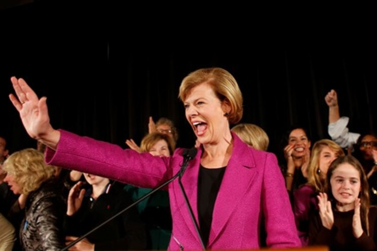 Democrata Tammy Baldwin foi eleita no estado do Wisconsin