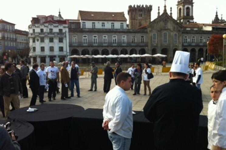 Proprietários de restaurantes manifestaram-se no centro de Braga
