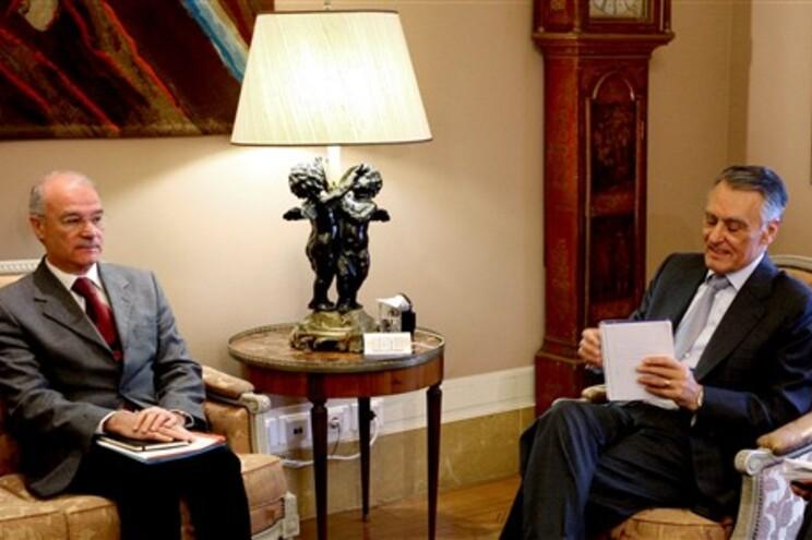 O presidente Cavaco Silva recebeu Arménio Carlos (esquerda), secretário-geral da CGTP