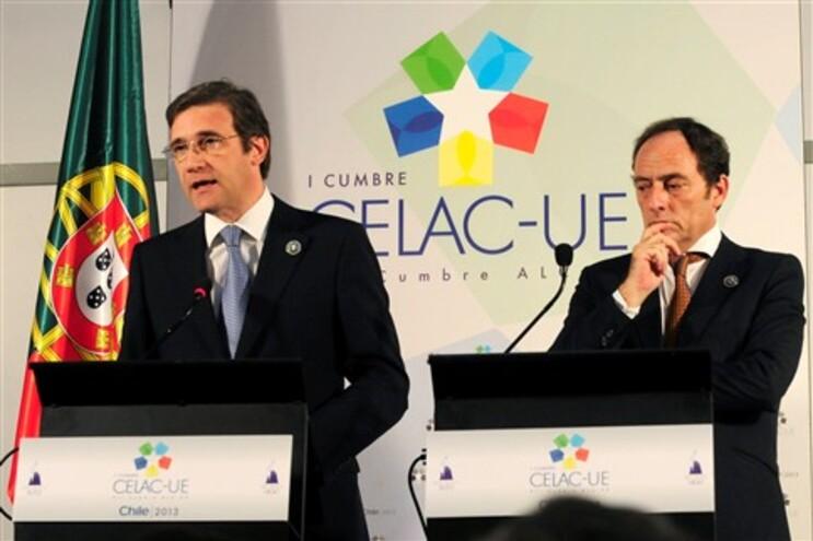 Passos Coelho e Paulo Portas no Chile