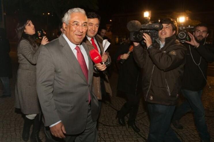 Costa à chegada à sede do PS em Lisboa