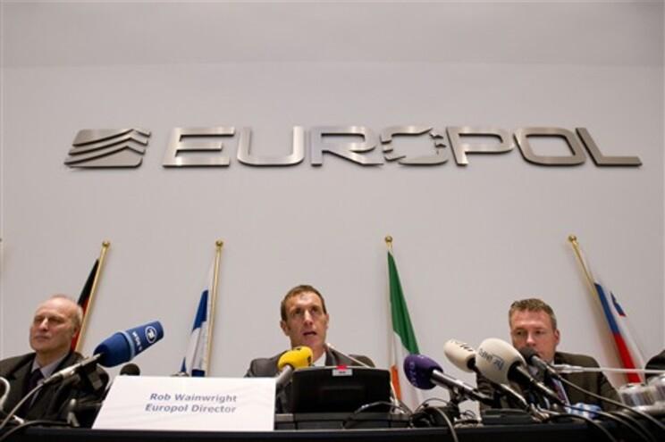 Conferência de imprensa da Europol em Haia