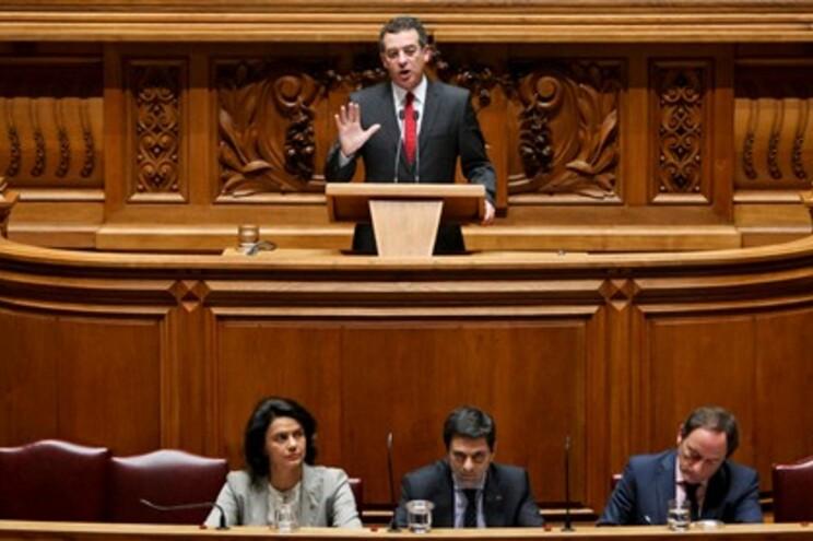 António José Seguro, lídero do PS, a discursar