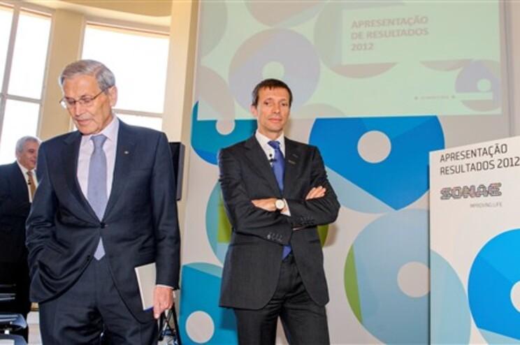 Belmiro de Azevedo, à esquerda, e o filho, Paulo Azevedo