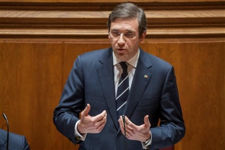 O primeiro-ministro Pedro Passos Coelho