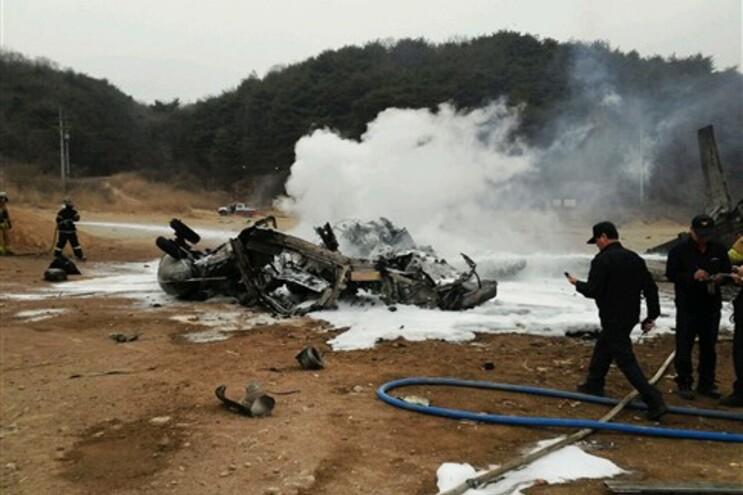 As 12 pessoas a bordo do helicóptero sobreviveram à queda