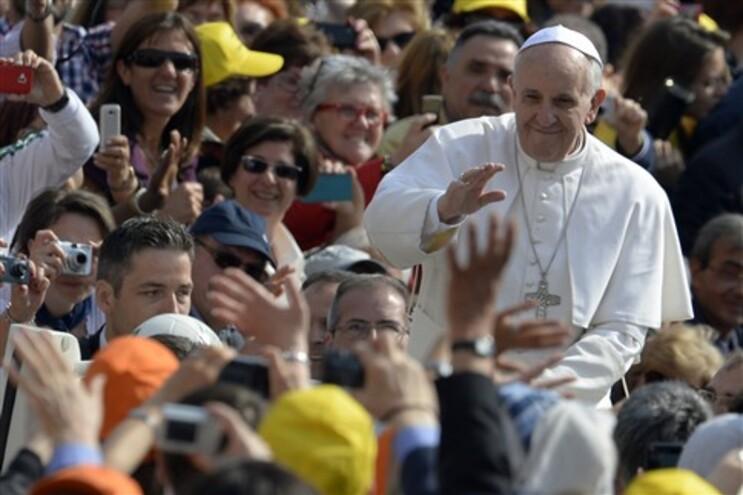 Papa Francisco na audiência semanal de quarta-feira
