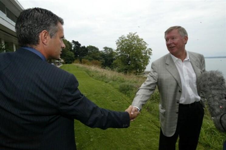 Mourinho e Alex Ferguson