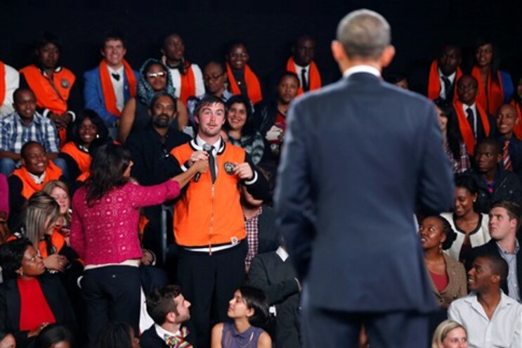 Obama está na Àfrica do Sul e participu num debate com jovens deste país