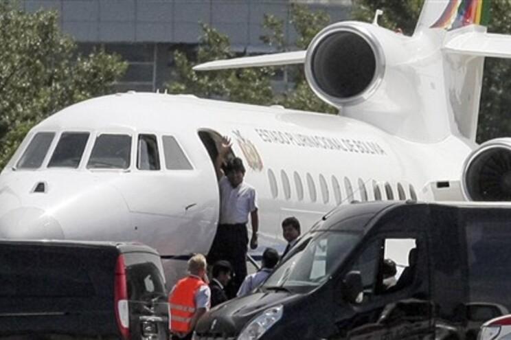 Evo Morales acena à partida de Viena