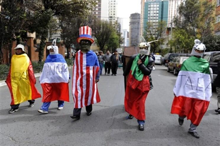 Portugal foi um dos países visados numa manifestação em La Paz, na Bolívia