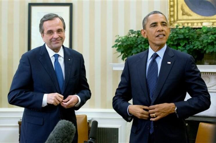 Obama recebeu Antonis Samaras na Casa Branca