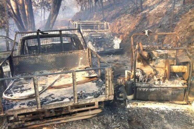 Presidente de Junta ficou com 60% do corpo queimado no combate a um incêndio