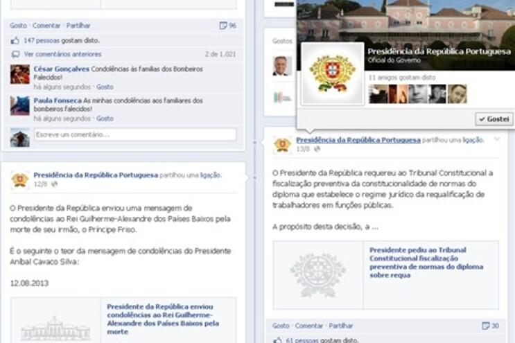 Críticas ao silêncio de Cavaco sobre bombeiros
