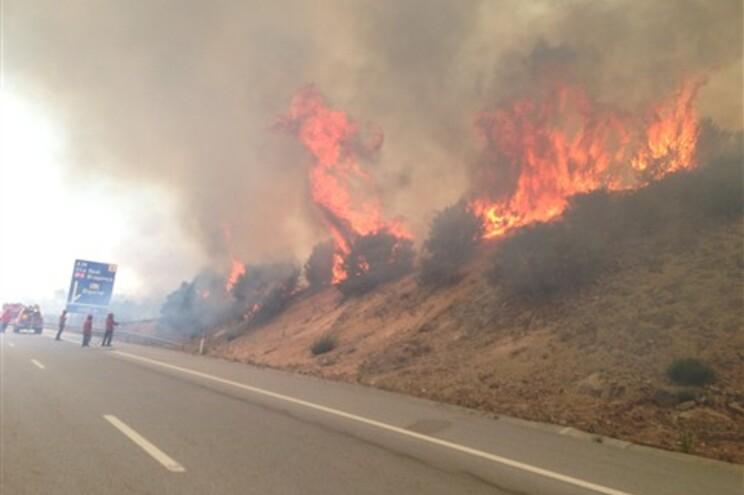 Incêndio começou, cerca das 11 horas, em Bigorne, Lamego