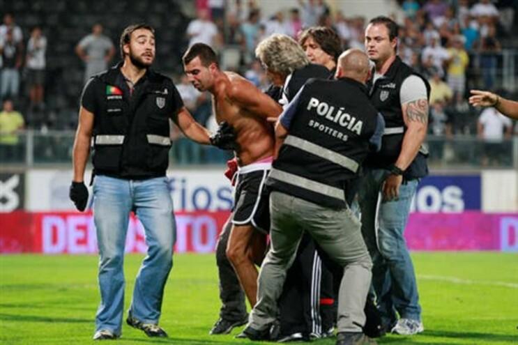 Incidentes ocorridos no final do jogo entre o Benfica e o Vitória de Guimarães