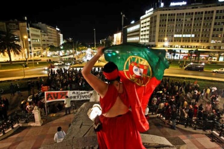 Manifestação de 2 de julho na Praça do Marquês de Pombal, em Lisboa