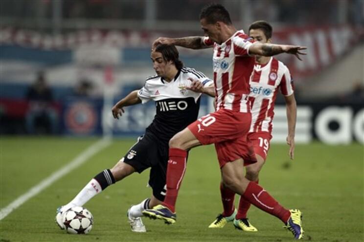 Benfica perde na Grécia (0-1) com Olympiakos