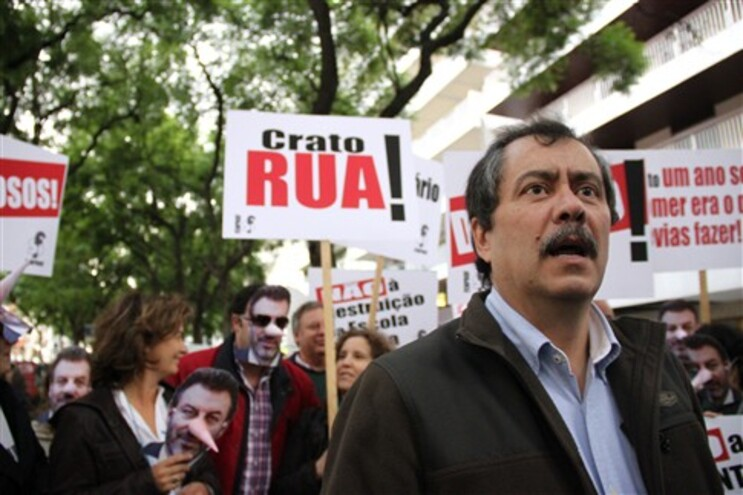 Manifestação de professores frente ao Ministério da Educação