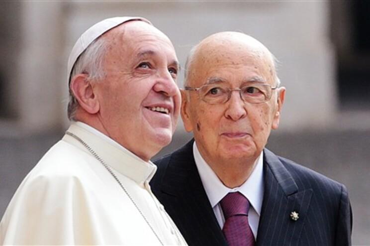 Papa Francisco com o presidente italiano  Giorgio Napolitano