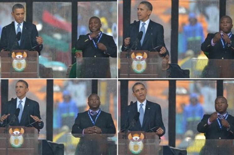 """""""Falso"""" intérprete do funeral de Mandela diz que é """"campeão"""" da língua gestual"""
