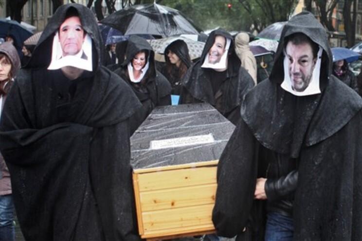 Bolseiros manifestaram-se esta terça-feira em Lisboa