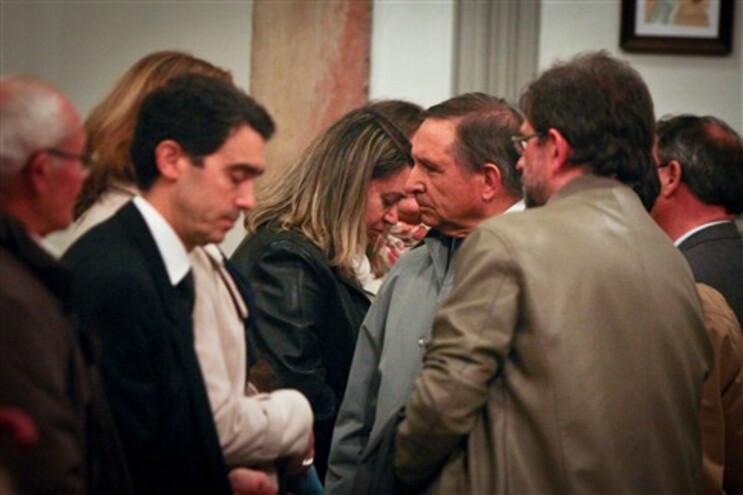 Manuel Damásio, presidente do Conselho de Administração da Lusófona, com Fatima Negrão, mãe de uma das