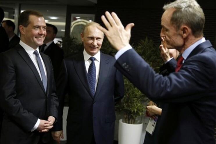 O presidente e o primeiro-ministro da Rússia
