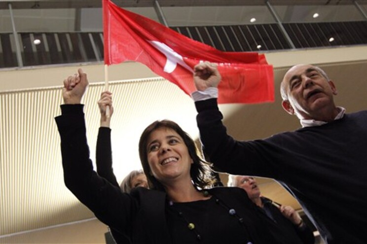 Os líderes do Bloco de Esquerda, Catarina Martins João Semedo
