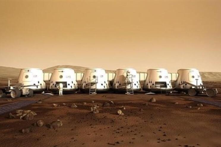 Imagem do que poderão vir a ser as casas a colocar em Marte