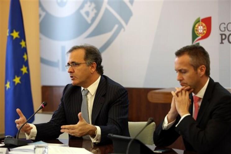 Ministro da Economia, António Pires de Lima, e o Secretário de Estado Sérgio Monteiro
