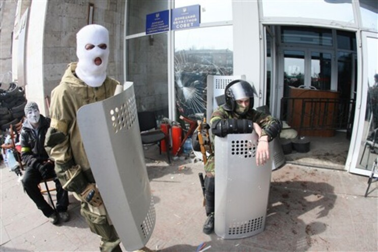 Milícias pró-russas em Donestk