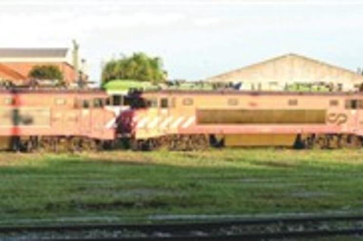 Locomotivas estão a apodrecer na estação do Entroncamento