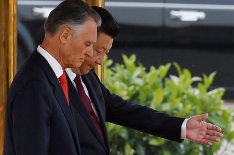 Xi Jinping e Cavaco Silva