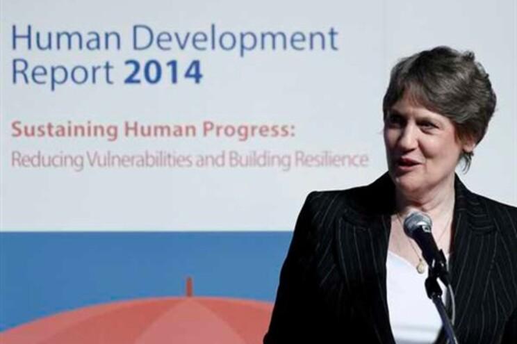 Helen Clark, diretora do Programa das Nações Unidas para o Desenvolvimento