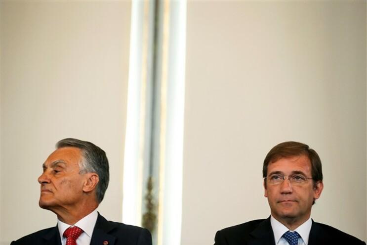 Cavaco e Passos Coelho durante as comemorações do 5 de outubro