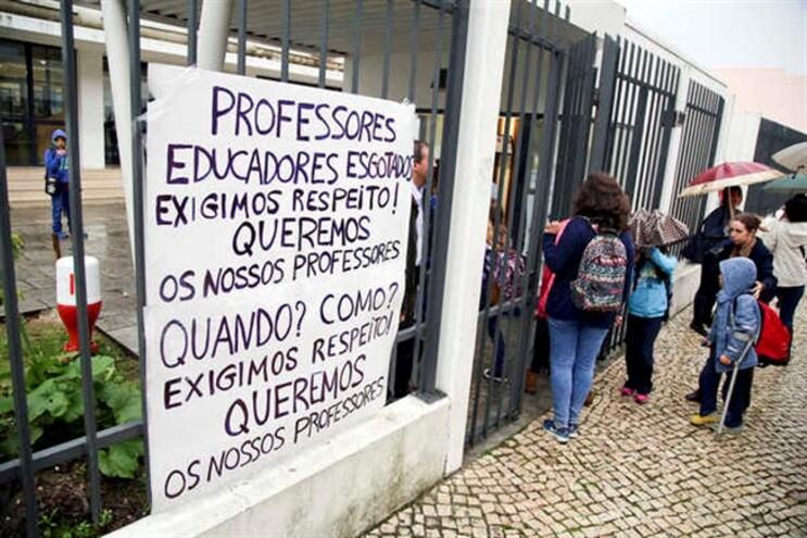 Protesto na Escola EB1,2,3 Pedro de Santarém