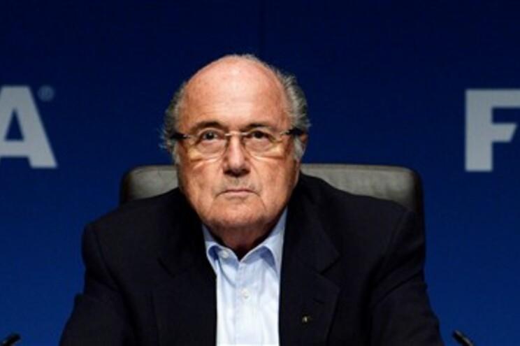 Blatter encontra-se em Moscovo para a apresentação do logotipo do Mundial2018