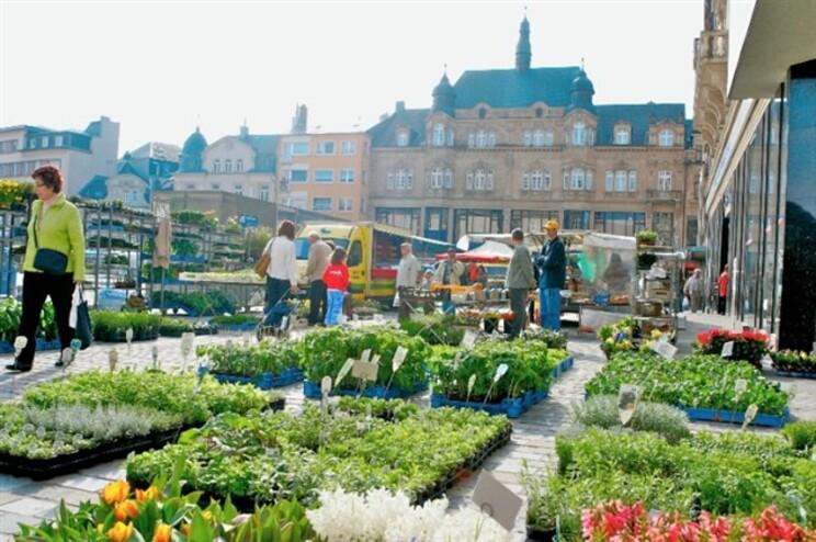 Praça da cidade de Esch-sur-Alzette