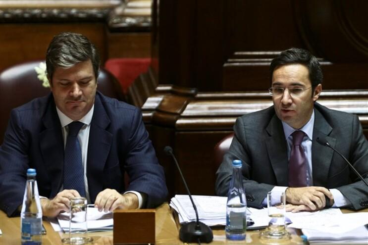 Secretário de Estado dos Assuntos Fiscais, Paulo Núncio, com o ministro do Ambiente, Ordenamento do Território