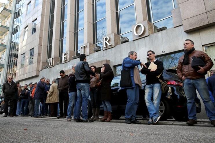 Foto do protesto dos trabalhadores, em novembro