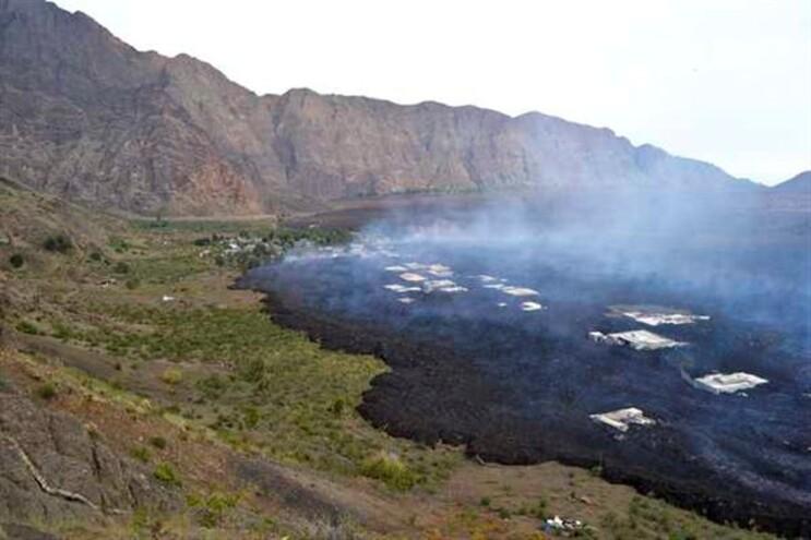 Bangaeira coberta de lava