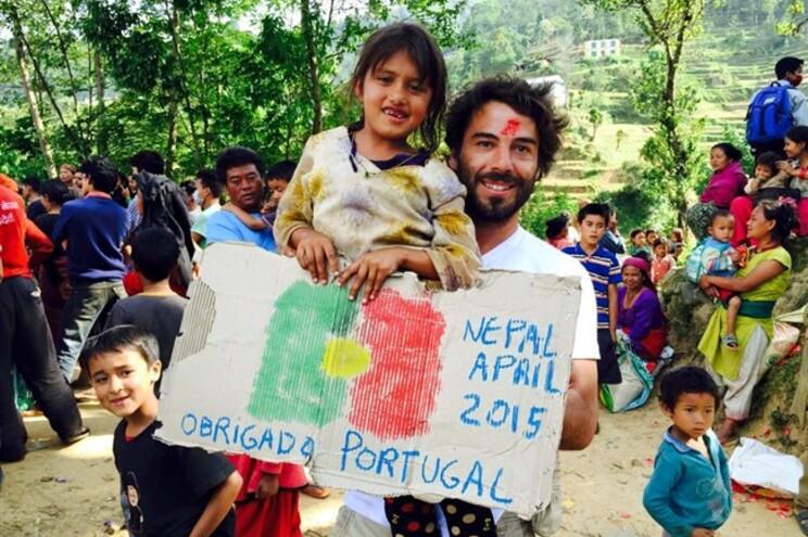 Lourenço Macedo Santos está a ajudar o povo nepalês