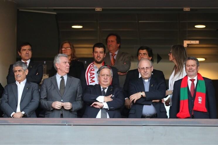 Da esquerda para a direita: Luís Filipe Vieira, Luís Marques Guedes, Luís Duque e Carlos Pereira