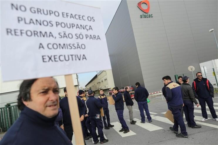 Trabalhadores da Efacec protestaram por melhores salários no passado mês de março