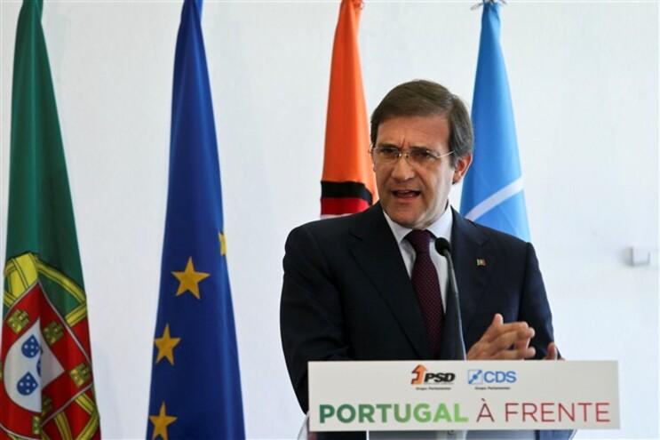 Passos Coelho nas jornadas parlamentares do PSD/CDS