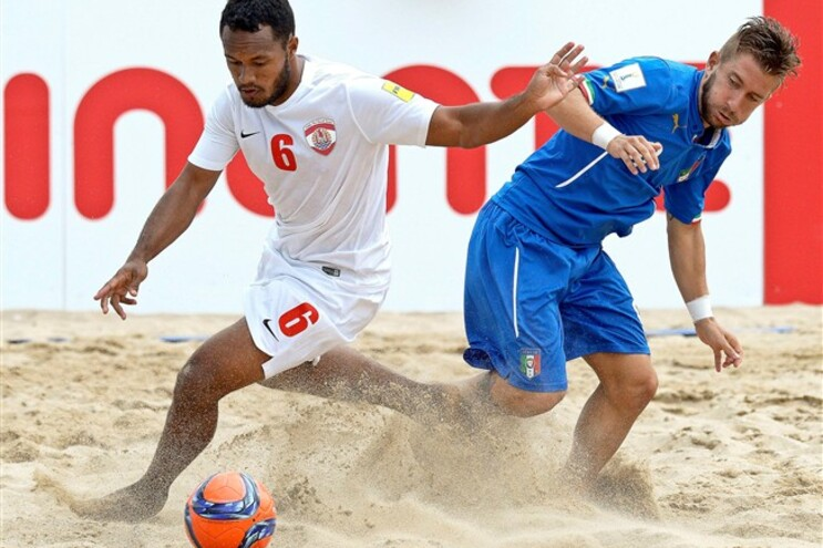 Taiti tornou-se o primeiro finalista do Mundial de futebol de praia
